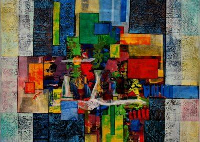 02 - Farbsinfonie Nr. 1 II - Mischtechnik auf Leinwand - 90 x 80 cm