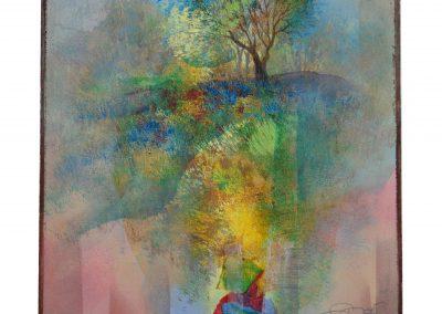 21 - Kleine Farbsinfonie zum Mai - Mischtechnik auf Papier - Bildmaß 46 x 40 cm - Papiermaß 60 x 48 cm