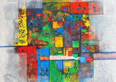 37 - Farbvariation zu Johann Sebastian Bach - Acryl auf Leinwand - 90 x 80 cm