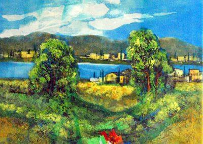 38 - Mediterane Stimmung - Acryl auf Leinwand - 71 x 80 cm