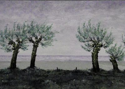 Bäume am Meer 2 - Acryl auf Leinwand - 60 x 160 cm