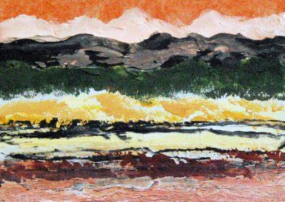 Berge Klein 1 - Acryl auf Holz - 25 x 30 cm