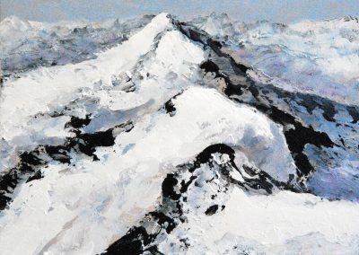Berge Klein 2 - Acryl auf Holz - 30 x 45 cm