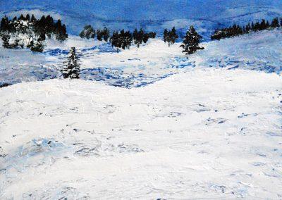 Berge Klein 5 - Acryl auf Holz - 30 x 45 cm