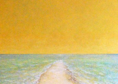 Bilder vom Meer CXXII (Landzunge, Gelb) - Acryl auf Leinwand - 80 x 100 cm