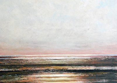 Bilder vom Meer V3 (braun) - Acryl auf Leinwand - 100 x 100 cm