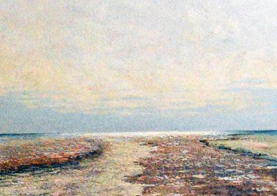 Bilder vom Meer XV (braun) - Acryl auf Leinwand - 80 x 80 cm