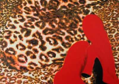 Cheetah Nude with Red Boots (2000) James Francis Gill