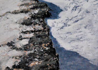 Gebirge 2 - Acryl auf Leinwand - 100 x 70 cm