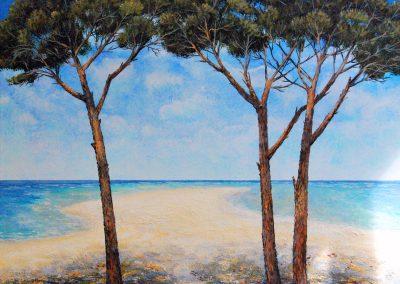 Pinien am Meer XIV - Acryl auf leinwand - 80 x 100 cm