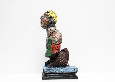 Skulptur - Odysseus 2014 - Bronze Handbemalt - 35 x 18 x 20 cm - 2