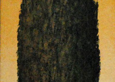 Zypresse 3 - Acryl auf Leinwand - 35 x 120 cm