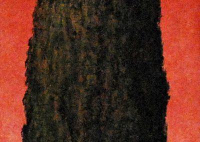 Zypresse 4 - Acryl auf Leinwand - 35 x 120 cm